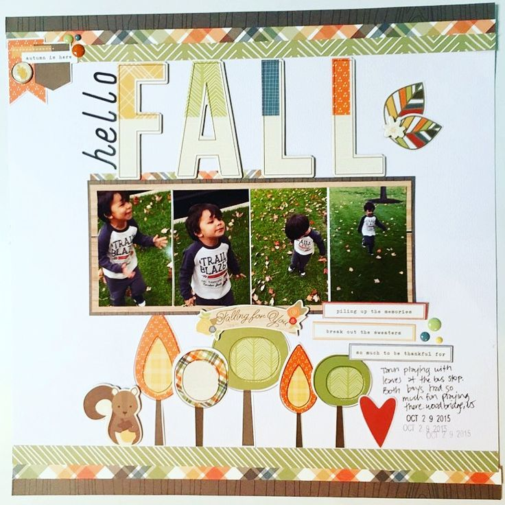 Hello fall - Scrapbook.com