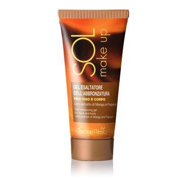 SOL - Gel esaltatore dell'abbronzatura per viso e corpo con estratto di Mango e Papaya (50ml)