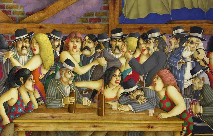 N/A - El Salón de la Julia (2006) - Óleo s/tela 128 x 200