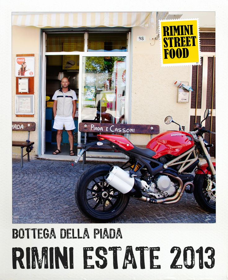 Bottega della Piada #rimini #food #streetfood #ducati