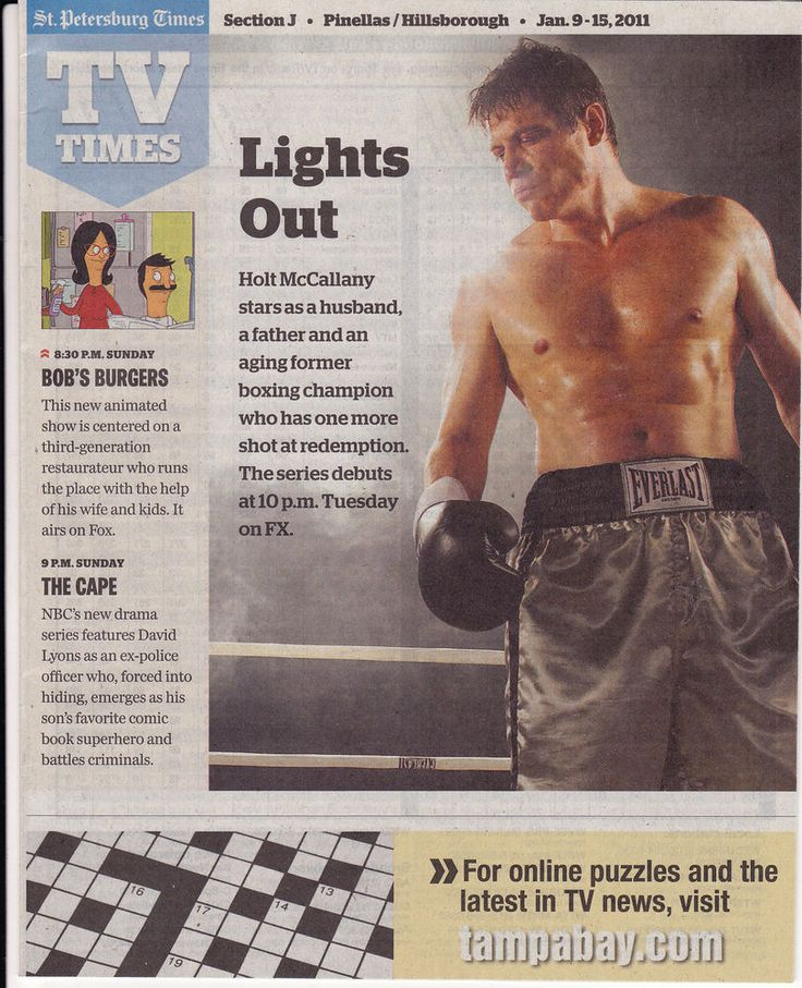 2011 TV Times Guide photo magazine Holt McCallany Lights Out FX Series Boxing