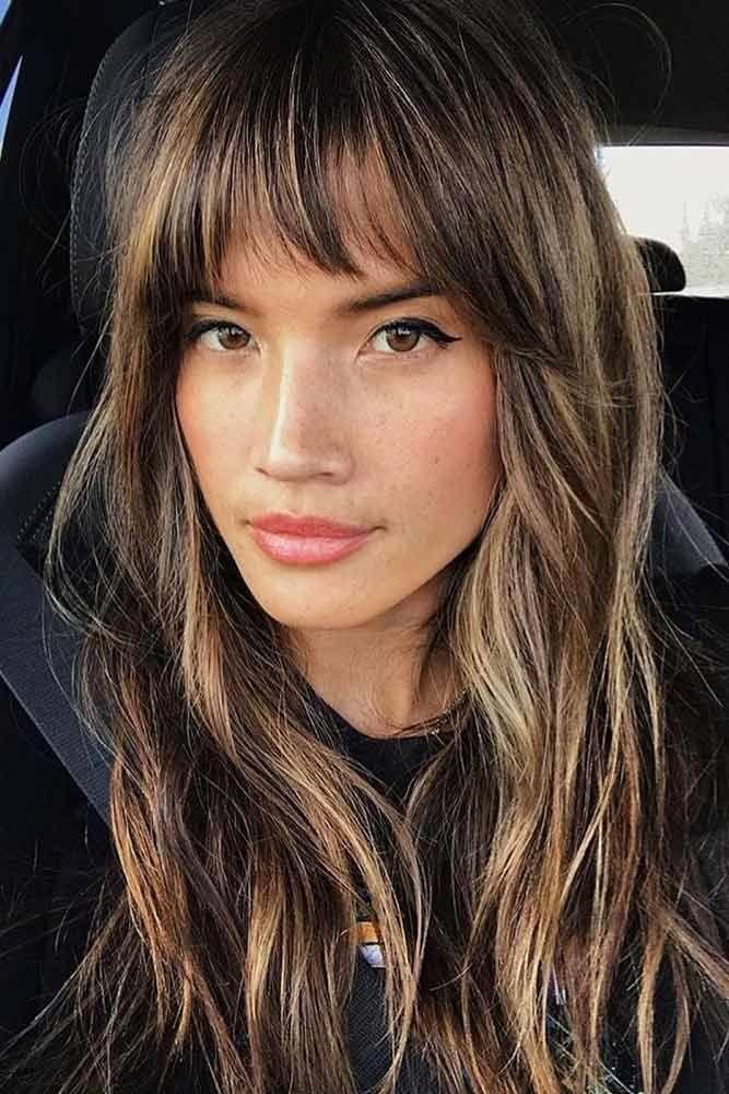 Hairstyle Heart Shaped Face 2020 Uzun Sac Kesimleri Kahkul Uzun Sac Uzun Katli Sac