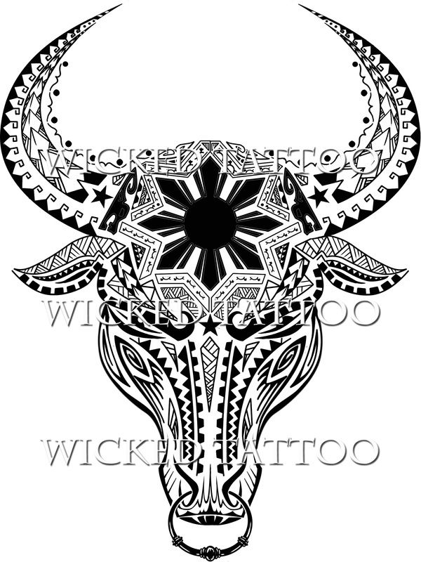 Filipino Tattoos water buffalo