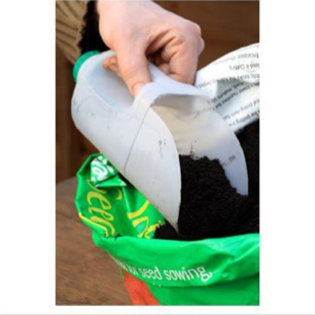Upcycle plastic milk jug into scooper