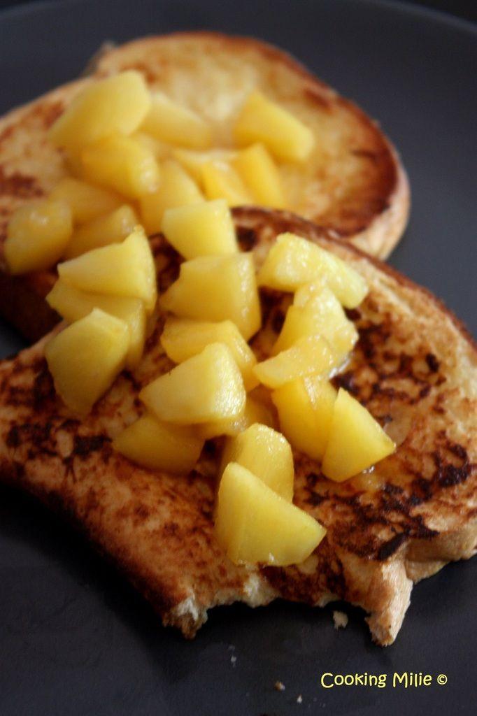 Brioche façon pain perdu et ses pommes fondantes
