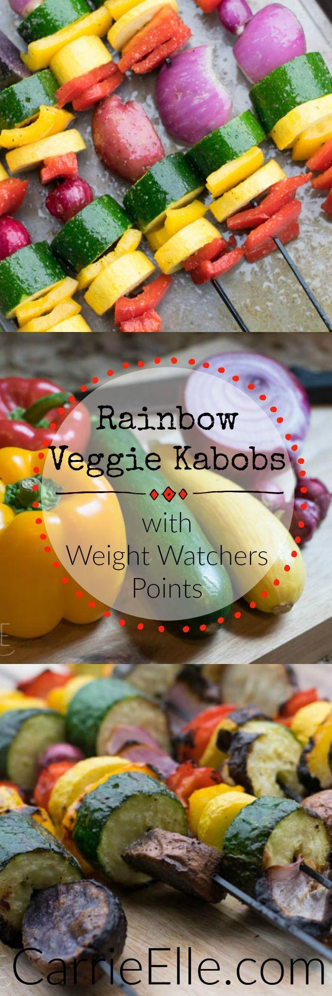 Rainbow Veggie Kabobs - only 2 WW points!