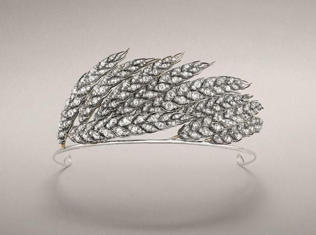 Wheat sheaf tiara designed in 1811 for Empress Marie-Louise, Napoléon's second wife, Chaumet.