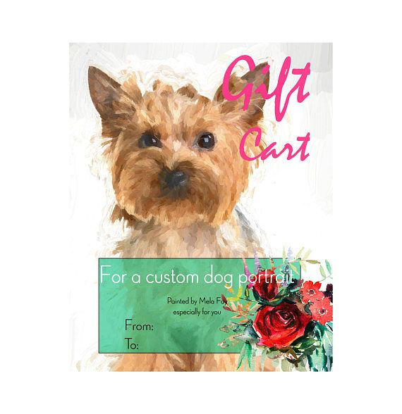 Custom dog Portrait GIFT CARD Pop art portrait from photo