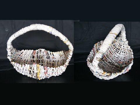 How To Make Fruit Basket From newspaper / DIY Basket / Best Out Of Waste / Newspaper Basket - YouTube
