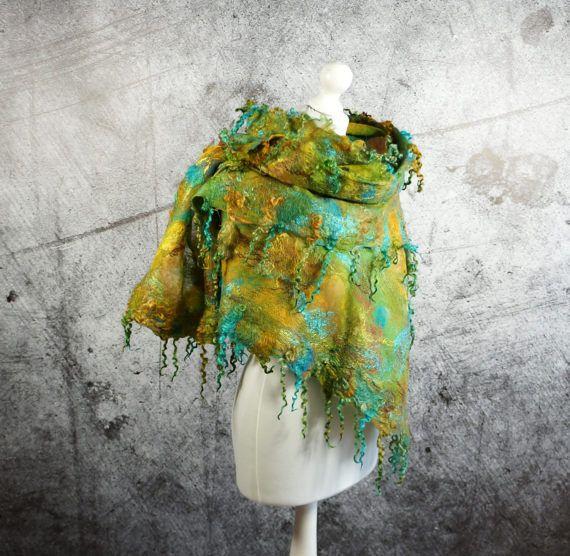 Nuno Gevilte zijden sjaal omslag sjaal vilten omslagdoek