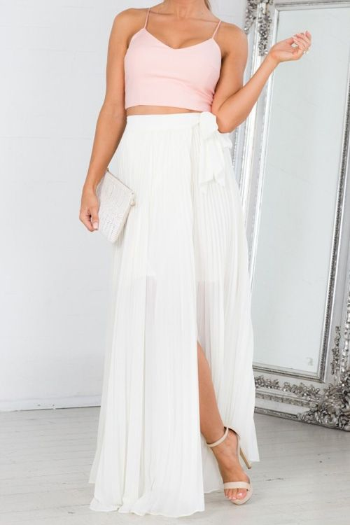 17 Best ideas about White Maxi Skirts on Pinterest | Cute ...