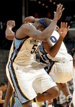March 19, 2016: The Grizzlies' Zach Randolph and Tony Allen celebrate during the second half against the Los Angeles Clippers at FedExForum. (Nikki Boertman/The Commercial Appeal)