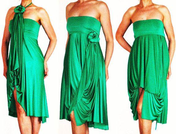 Green Party dress - Green Bridesmaids dress Convertible Wrap Infinity Multi - way dress more than 18 ways to wear, No.4
