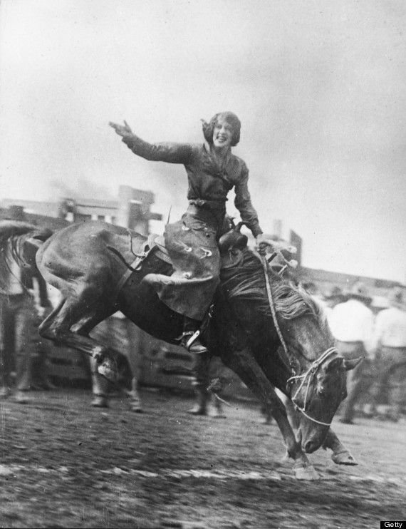 You knew how to deal gracefully with a bucking bronco.