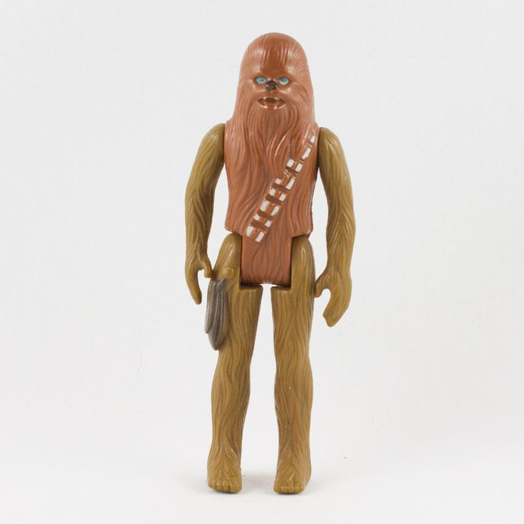 Chewbacca, This vintage Kenner Star Wars Chewbacca action figure is in great condition and is an excellent addition to any collection. Although the limbs are very firm, they have faded slightly. The paint finishing is crisp and sharp with only a few hairline scratches along the edges.