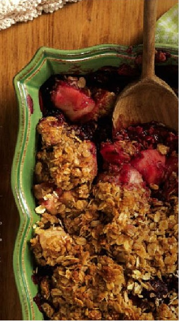 Apple Blackberry Crumble #dessert