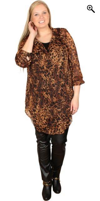 Veto - Lang skjorte med flot mønster - Brown