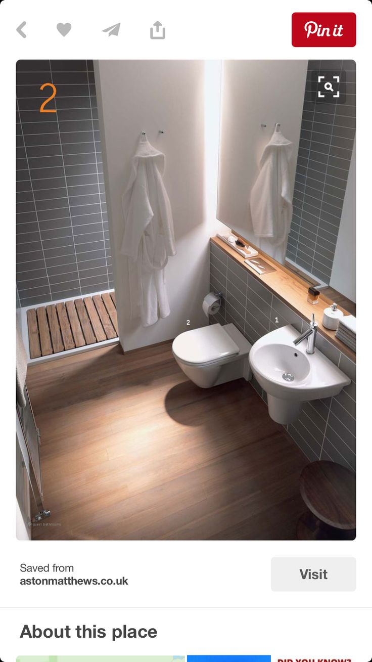 Example of concealed cistern and shelf