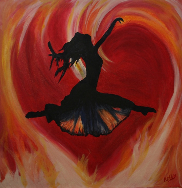 Prophetic art ..... Leaping Freedom Heart of Fire. This is so beautiful, I had to share it. GVT