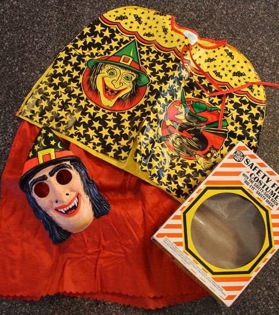 Vintage Witch costume in original box .I wore this when I was about 7 years old.