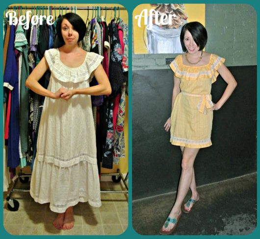 Remake thrift store clothes