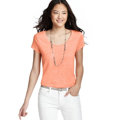 Loft - LOFT Style Closet - Linen Tee --fabric companies, where is linen knit if places like Loft and jcrew are getting it?