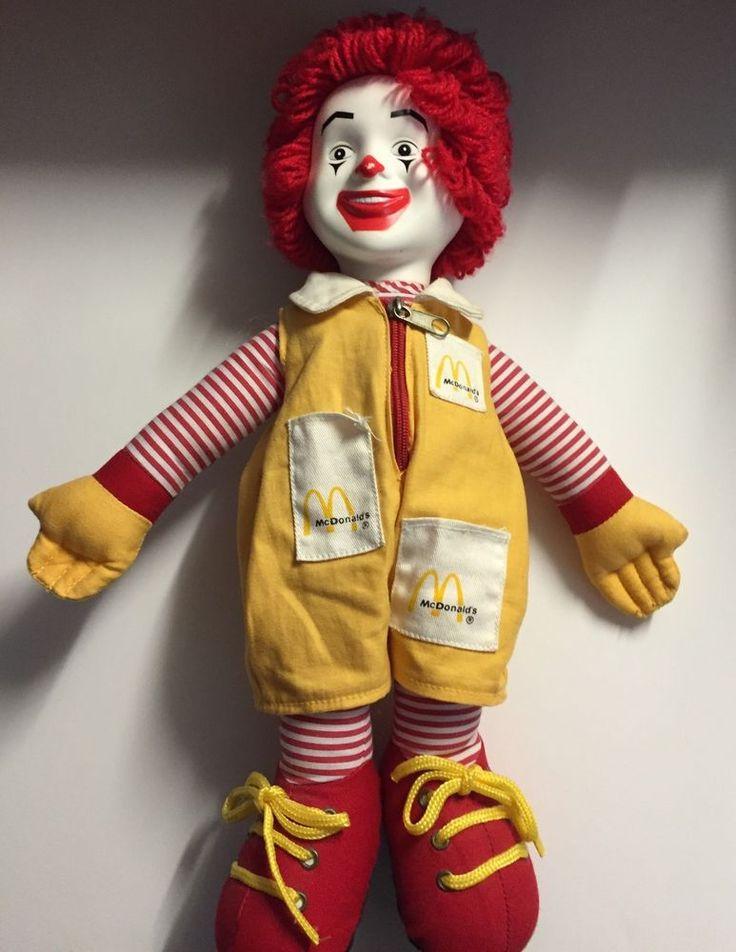 "Ronald McDonald Doll Toy Stuffed Plush McDonalds 14"" 1999  #McDonalds"