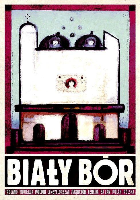 Ryszard Kaja, Bialy Bor, Hommage a Nowosielski, Polish Poster