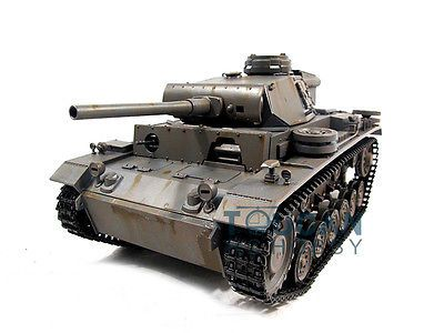 ﹩499.99. 100% Metal Mato 1/16 Panzer III RC KIT Tank Model BB Shooting Pellets Gray 1223   Scale - 1:16, Fuel Type - Electric, Type - Tanks, Fuel Source - Electric, State of Assembly - KIT, Gender - Boys  Girls, Year - 2015,