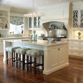 master bath color blue....pastel....w/ white cabinets....traditional kitchen by Bloomsbury Kitchens and Fine Cabinetry