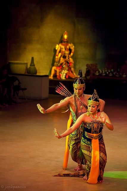Wayang Orang. Human Puppet. Ramayana, Traditional Javanese dance -- Indonesia.