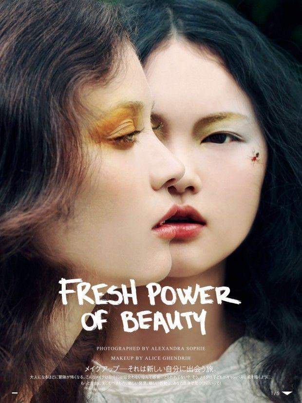 Vogue Japan Beauty August 2015 | Alexandra Hochguertel, Diana Moldovan & He Cong [Beauty]
