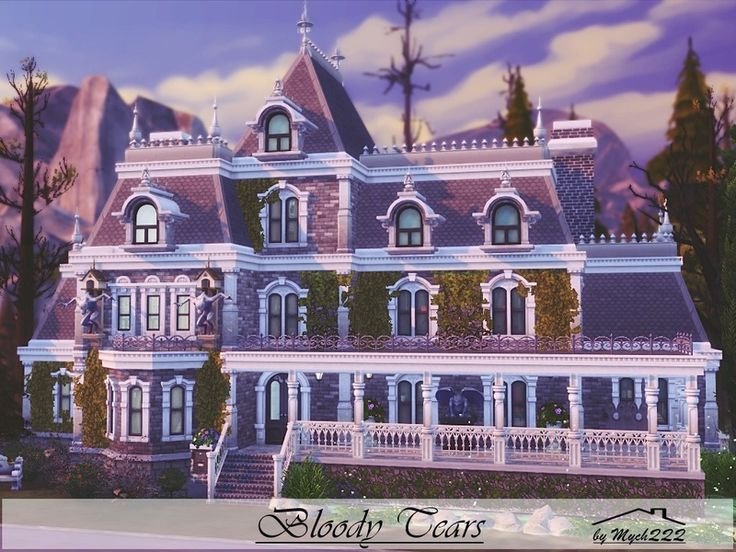 Bloody Tears is a huge house in Victorian style perfect for Vampire Family built on 30x30 lot in Forgotten Hollow. Found in TSR Category 'Sims 4 Residential Lots'
