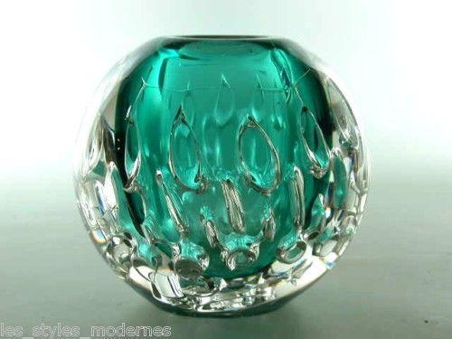 Gralglas CORONA Vase ° Design KARL WIEDMANN / HABERMEIER ° sign.Gral Glas