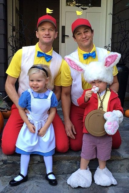 gorgeous little girl!! The HIMYM star Instagrammed this pic of his husband, David Burtka, and kids, Gideon and Harper, in their Halloween costumes. But the Alice i...