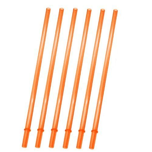 """Orange Replacement Acrylic Straw Set of 6, Fits 16oz, 20oz, 24oz Tumblers by Diamond. $2.76. Set of 6, Orange Acrylic Straw. Fits Tumblers of 16oz, 20oz, 24oz and 30oz. The size is: 10.5""""x0.29""""x0.2"""". Don't straws make any drink friendlier? These straws are designed as replacements to go with our insulated acrylic cups, but they can be used however you need them.Orange, this six pack of straws comes in handy.. Save 79%!"""