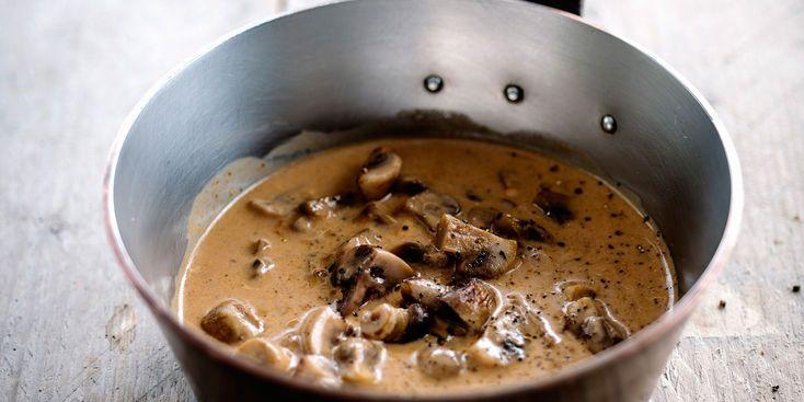Sauce aux champignons à la crème et Cognac
