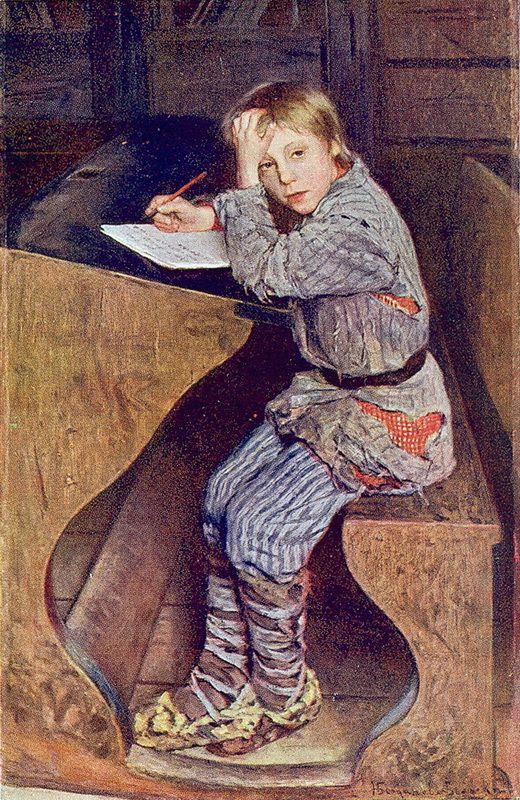 Sunday Reading at Country School - Nikolay Bogdanov-Belsky - WikiArt.org