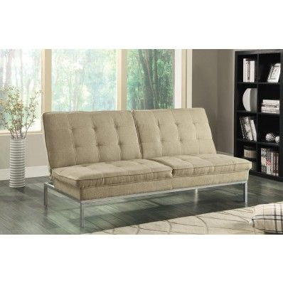 oat linenlike sofa bed by coaster furniture in futons perfect for small spaces this sofa bed by coaster furniture features tufted back and seat cushions