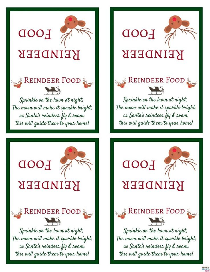 photograph regarding Printable Reindeer Food Tags titled Santas Magic Reindeer Food items with No cost Printable Bag Topper