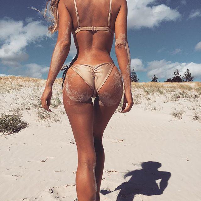 @frankieswimwear Nude Bikini in the golden hour ☀️ #frankieswimwear #summer16