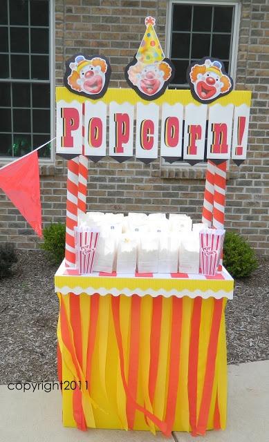 popcorn booth decor idea inspiration ~ What Happens at Grandma's: FAMILY CARNIVAL!!!! PART 4!