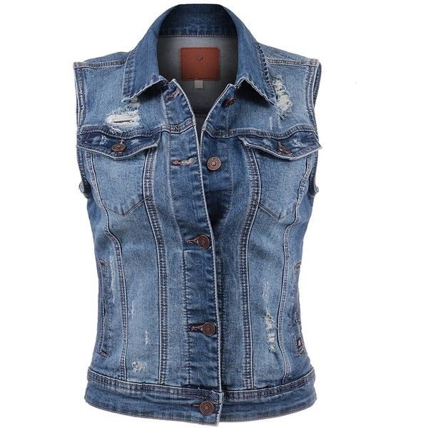 BEKDO Womens Basic Solid Denim Vest ($20) ❤ liked on Polyvore featuring outerwear, vests, denim vests, denim waistcoat, blue vest, blue denim vest and blue waistcoat