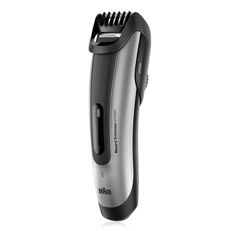The Braun beard trimmer BT5090 lets you trim your hair to the exact length you select.