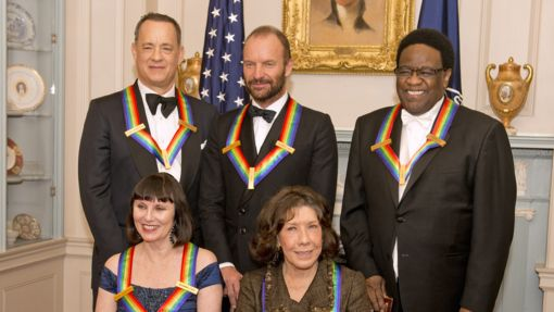 12/30/14 . . . Kennedy Center Honor nominees Tom Hanks (actor, director), Sting (musician), Al Green (musician), Patricia McBride (ballerina), and Lily Tomlin (comedienne)
