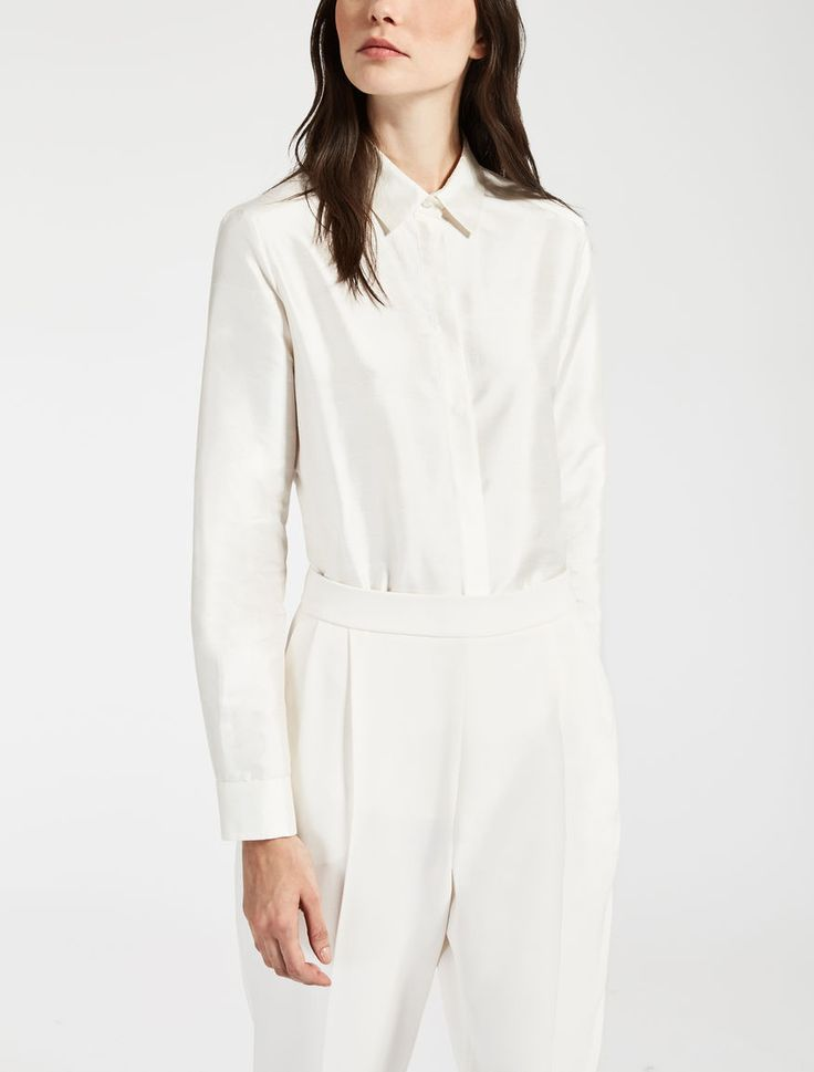"Silk shirt, white - ""BEBER"" Max Mara"
