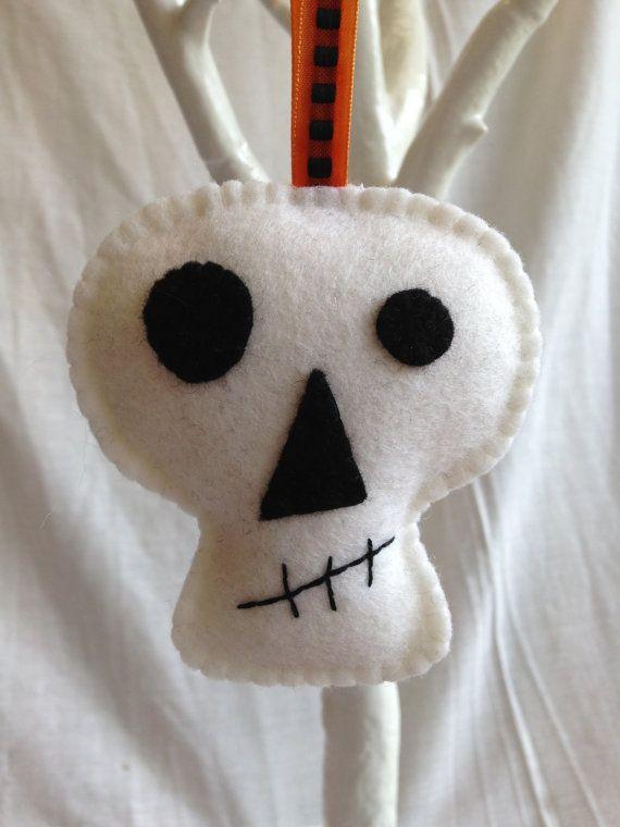 Halloween Decorations Felt Bat Skull Cat Pumpkin por MichelleGood