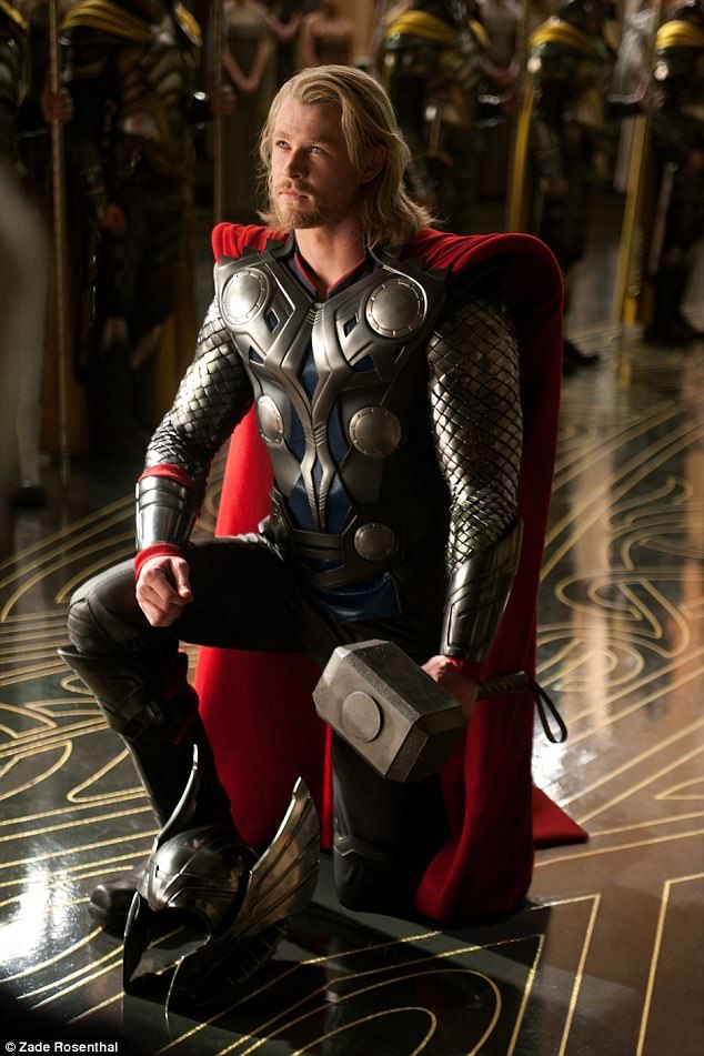 Shaping up: Chris revealed after the release of the first Thor film that he gained 20 poun...
