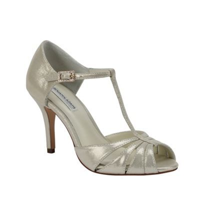 Benjamin Adams Shimmer leather 'Blake' t-bar sandal
