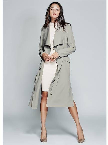 Lisha Trench Coat at Guess